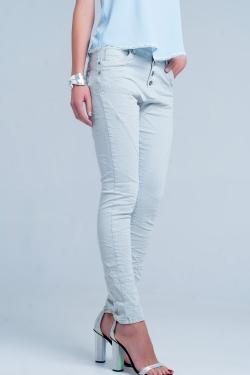 Grey Low rise boyfriend jeans